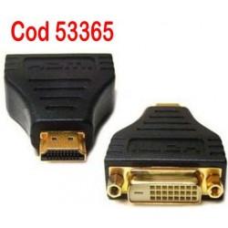 Adaptor HDMI tata la DVI mama pentru HDTV PS3 PLASMA TV